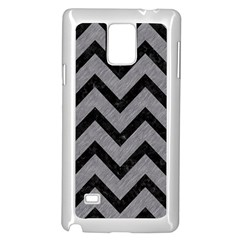 Chevron9 Black Marble & Gray Colored Pencil (r) Samsung Galaxy Note 4 Case (white)