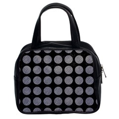 Circles1 Black Marble & Gray Colored Pencilcircle1 Black Marble & Gray Colored Pencil Classic Handbags (2 Sides)