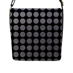 Circles1 Black Marble & Gray Colored Pencilcircle1 Black Marble & Gray Colored Pencil Flap Messenger Bag (l)