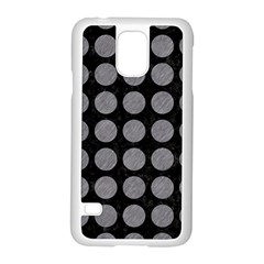 Circles1 Black Marble & Gray Colored Pencilcircle1 Black Marble & Gray Colored Pencil Samsung Galaxy S5 Case (white)