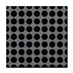 Circles1 Black Marble & Gray Colored Pencil (r) Tile Coasters