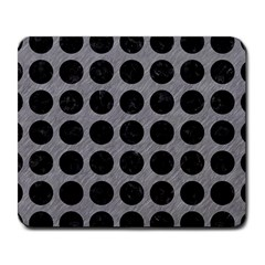 Circles1 Black Marble & Gray Colored Pencil (r) Large Mousepads
