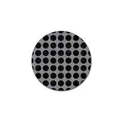 Circles1 Black Marble & Gray Colored Pencil (r) Golf Ball Marker (4 Pack)