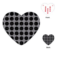 Circles1 Black Marble & Gray Colored Pencil (r) Playing Cards (heart)