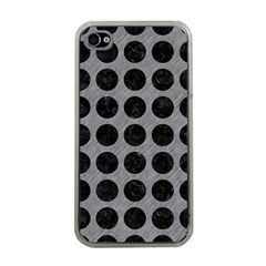 Circles1 Black Marble & Gray Colored Pencil (r) Apple Iphone 4 Case (clear)