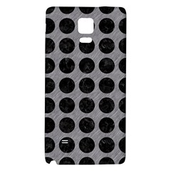 Circles1 Black Marble & Gray Colored Pencil (r) Galaxy Note 4 Back Case