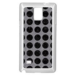 Circles1 Black Marble & Gray Colored Pencil (r) Samsung Galaxy Note 4 Case (white)