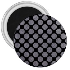 Circles2 Black Marble & Gray Colored Pencil 3  Magnets