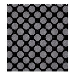 Circles2 Black Marble & Gray Colored Pencil Shower Curtain 66  X 72  (large)