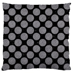 Circles2 Black Marble & Gray Colored Pencil Large Cushion Case (one Side)