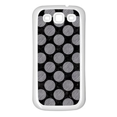 Circles2 Black Marble & Gray Colored Pencil Samsung Galaxy S3 Back Case (white)