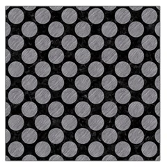 Circles2 Black Marble & Gray Colored Pencil Large Satin Scarf (square)
