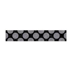 Circles2 Black Marble & Gray Colored Pencil Flano Scarf (mini)
