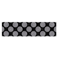 Circles2 Black Marble & Gray Colored Pencil Satin Scarf (oblong)