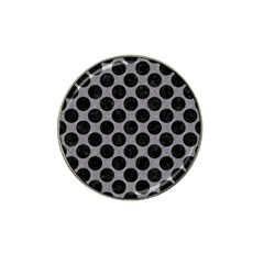 Circles2 Black Marble & Gray Colored Pencil (r) Hat Clip Ball Marker (4 Pack)