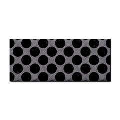 Circles2 Black Marble & Gray Colored Pencil (r) Cosmetic Storage Cases