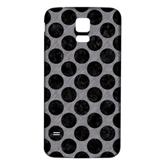 Circles2 Black Marble & Gray Colored Pencil (r) Samsung Galaxy S5 Back Case (white)