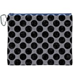 CIRCLES2 BLACK MARBLE & GRAY COLORED PENCIL (R) Canvas Cosmetic Bag (XXXL) Front