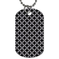Circles3 Black Marble & Gray Colored Pencil Dog Tag (two Sides)