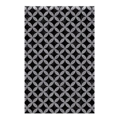 Circles3 Black Marble & Gray Colored Pencil Shower Curtain 48  X 72  (small)