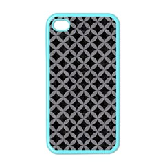 Circles3 Black Marble & Gray Colored Pencil Apple Iphone 4 Case (color)