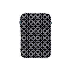 Circles3 Black Marble & Gray Colored Pencil Apple Ipad Mini Protective Soft Cases