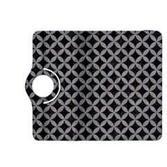 Circles3 Black Marble & Gray Colored Pencil Kindle Fire Hdx 8 9  Flip 360 Case