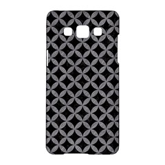 Circles3 Black Marble & Gray Colored Pencil Samsung Galaxy A5 Hardshell Case