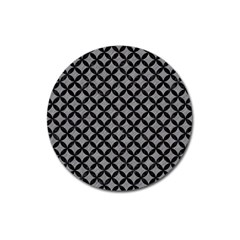 Circles3 Black Marble & Gray Colored Pencil (r) Magnet 3  (round)