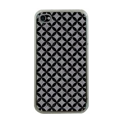 Circles3 Black Marble & Gray Colored Pencil (r) Apple Iphone 4 Case (clear)