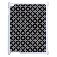 Circles3 Black Marble & Gray Colored Pencil (r) Apple Ipad 2 Case (white)