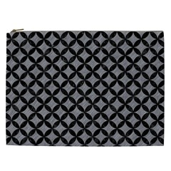 Circles3 Black Marble & Gray Colored Pencil (r) Cosmetic Bag (xxl)