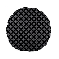 Circles3 Black Marble & Gray Colored Pencil (r) Standard 15  Premium Round Cushions