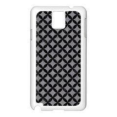 Circles3 Black Marble & Gray Colored Pencil (r) Samsung Galaxy Note 3 N9005 Case (white)