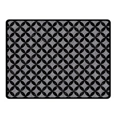 Circles3 Black Marble & Gray Colored Pencil (r) Double Sided Fleece Blanket (small)
