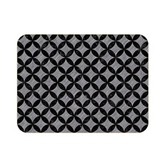 Circles3 Black Marble & Gray Colored Pencil (r) Double Sided Flano Blanket (mini)