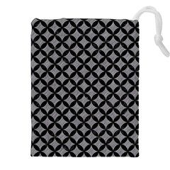 Circles3 Black Marble & Gray Colored Pencil (r) Drawstring Pouches (xxl)