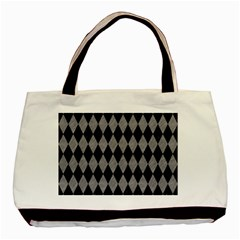 Diamond1 Black Marble & Gray Colored Pencil Basic Tote Bag (two Sides)