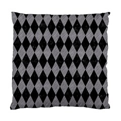 Diamond1 Black Marble & Gray Colored Pencil Standard Cushion Case (one Side)
