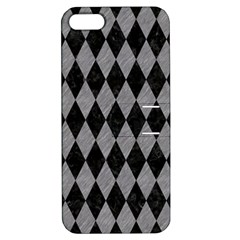 Diamond1 Black Marble & Gray Colored Pencil Apple Iphone 5 Hardshell Case With Stand