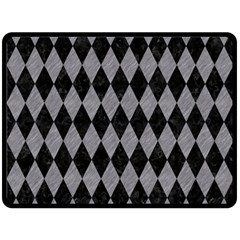 Diamond1 Black Marble & Gray Colored Pencil Double Sided Fleece Blanket (large)
