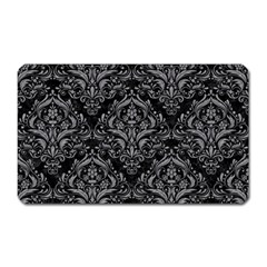 Damask1 Black Marble & Gray Colored Pencil Magnet (rectangular)