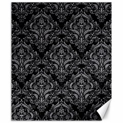 Damask1 Black Marble & Gray Colored Pencil Canvas 20  X 24