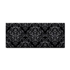 Damask1 Black Marble & Gray Colored Pencil Cosmetic Storage Cases