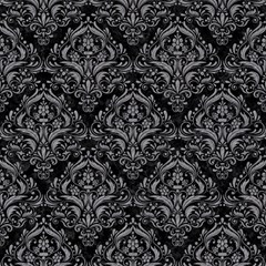 Damask1 Black Marble & Gray Colored Pencil Magic Photo Cubes