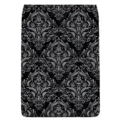 Damask1 Black Marble & Gray Colored Pencil Flap Covers (s)