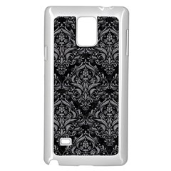 Damask1 Black Marble & Gray Colored Pencil Samsung Galaxy Note 4 Case (white)