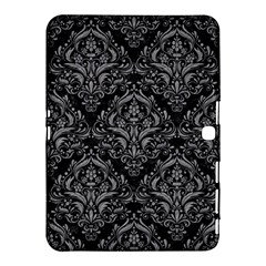 Damask1 Black Marble & Gray Colored Pencil Samsung Galaxy Tab 4 (10 1 ) Hardshell Case