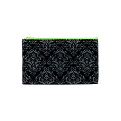 Damask1 Black Marble & Gray Colored Pencil Cosmetic Bag (xs)