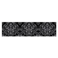 Damask1 Black Marble & Gray Colored Pencil Satin Scarf (oblong)